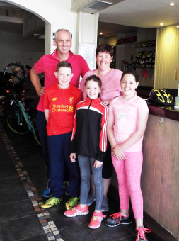 Super Smiles From This Happy Family After A Day Riding Our bikes On The Greenway