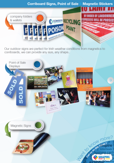 Corriboard Signs, Point of Sale & Magnetic Stickers