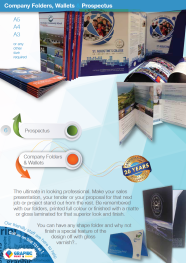Company Folders, Wallets & Propectus