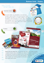 Business Cards & posters