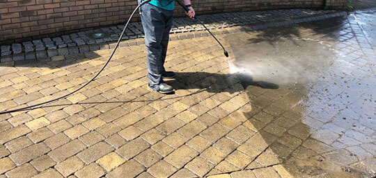 Drive Way Pressure Washing